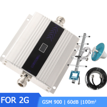 GSM 900Mhz 2G Repeater Mobile Phone Signal Booster Mini LCD GSM Signal Repeater Cellular With Amplifier Cable Antenna - цена