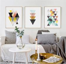 Modern Simple Abstract Geometric Wall Art Canvas Painting Living Room Poster and Prints Pictures Decoration Picture Unfram