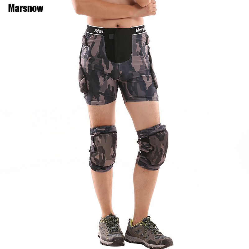 Protective Hip Pad Shorts+Protective Knee Pads Skiing Skating Snowboarding Impact Protection sets for Kids Adult Men Women vpg wl1406 free shipping higher quality weight lifting knee sleeves for powerlifting crossfit knee pad for women and men