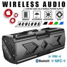 Bluetooth беспроводные колонки водонепроницаемый портативный динамик для спорта на открытом воздухе Бумбокс NFC пылезащитный ударопрочный с защитой от царапин как внешний аккумулятор