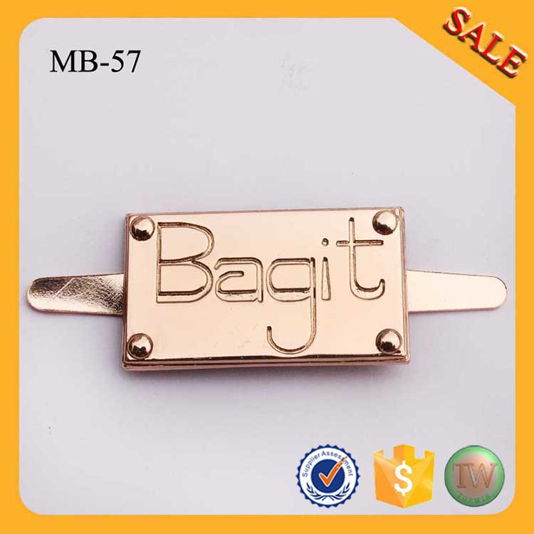 MB08 engraved designer custom metal label tags logo for leather bag ... 5849e7a9a82cb