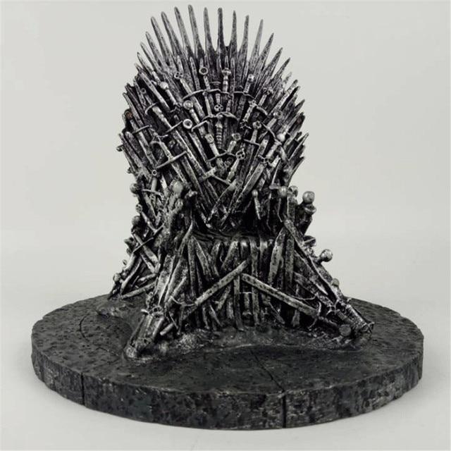 Game of Thrones Cadeira Modelo de Brinquedo figura de ação Espada Brinquedos Canção de Gelo e Fogo O Trono de Ferro Mesa de Natal presente 17 cm