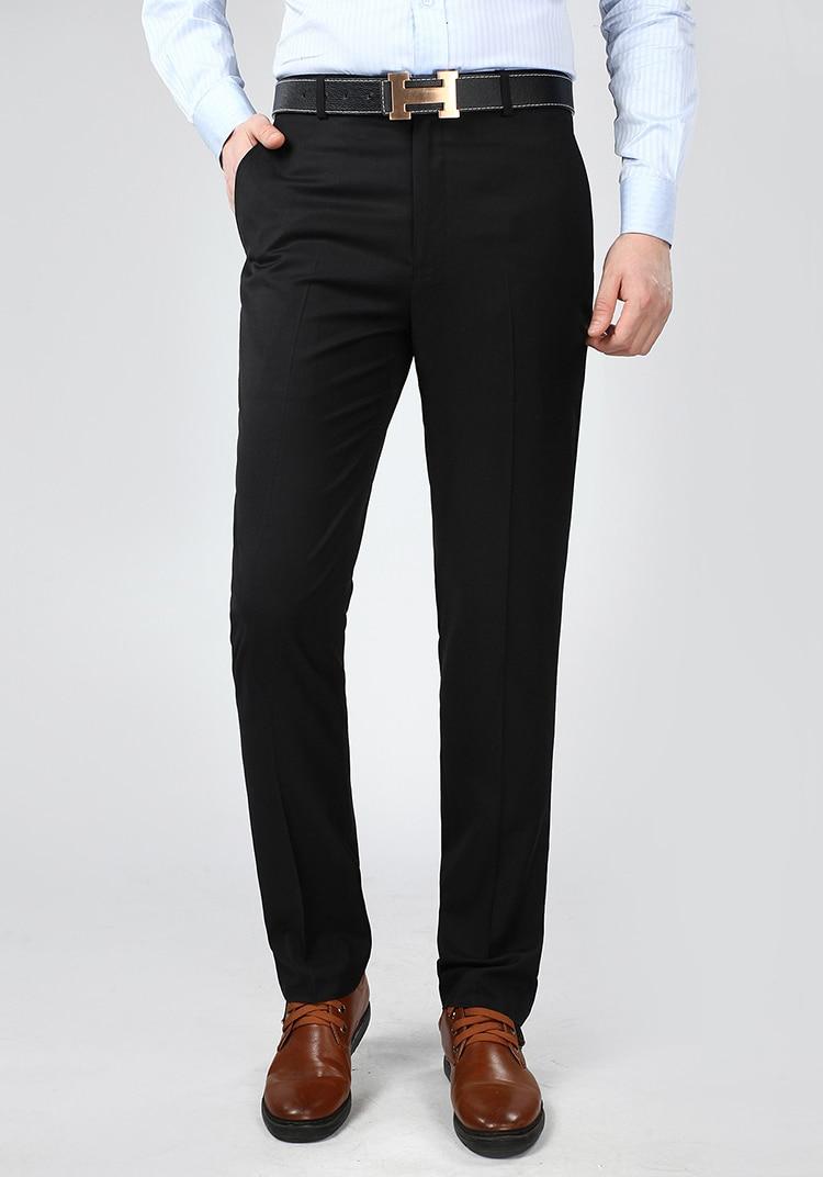 Mu Yuan Yang 2019 Summer Style Mens Silk Suit Pants 44 42 Fashion Thin  Dress Pants Slim Design Classical Work Pants Male Clorhes