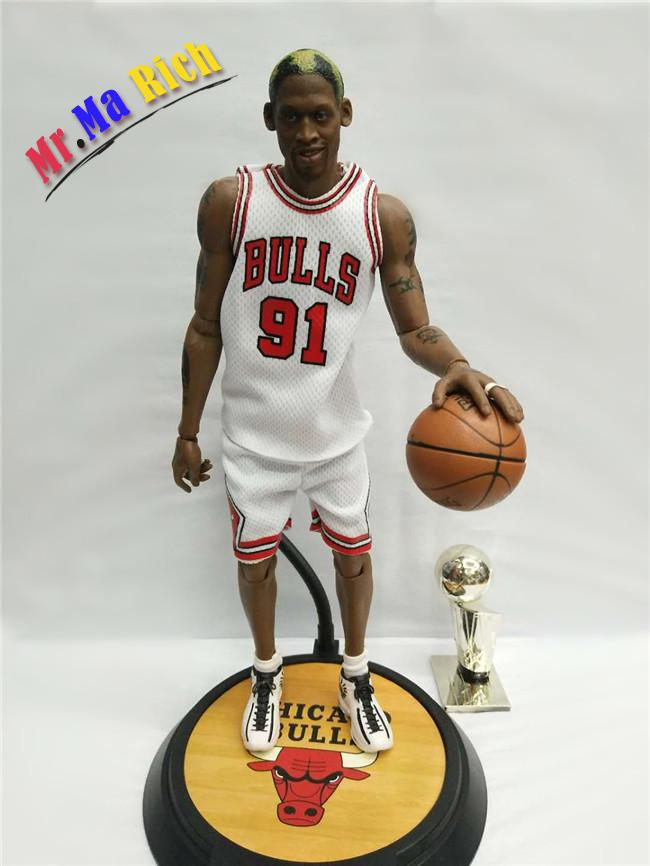 30 Cm Basketball Star Rodman White Jersey Joint Moveable Doll Resin Action Collectible Toy Sexy Figure