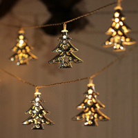 Iron Christmas Tree Metal String Light Warm White LED String Fairy Party Wedding Christmas Decor