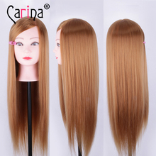 22 Mannequin Head Hair Synthetic Hairdressing Doll Heads Cosmetology Women Hairdresser Manikin Sale