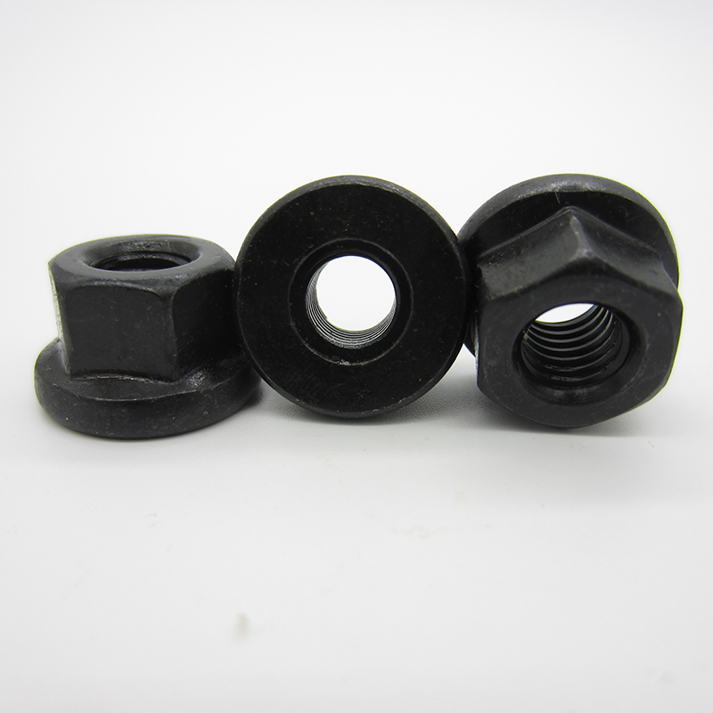 5pcs M8 M10 M12 M14 M16 M18 M20 M22 M24  DIN 6331 8.8 Grade Black 45# Steel  Flange Nut  Hexagon collar nuts with a height5pcs M8 M10 M12 M14 M16 M18 M20 M22 M24  DIN 6331 8.8 Grade Black 45# Steel  Flange Nut  Hexagon collar nuts with a height