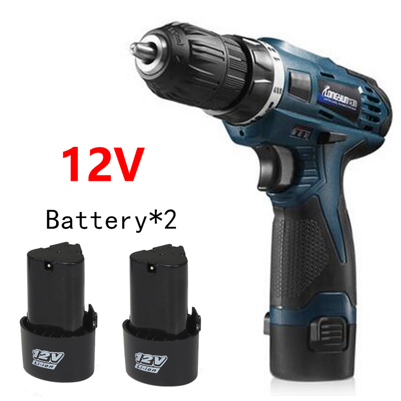 ФОТО MXITA 12V mini Two Speed Rechargeable Lithium Battery*2 Wireless Hand Electric Drill cordless Electric Screwdriver power tool