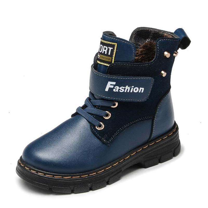 Genuine Leather Children Martin Boots High Quality Brand kids fashion Boots Girl Winter Snow Boots boy cotton sneakers for 4-16Y 2016 winter children genuine leather boots brand boys cotton buckle shoes fashion ankle martin boots for kids