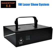 Горячий продавать 1 Вт Полноцветный Лазерный Луч Бесплатная Доставка RGB Laser свет 1 Вт Высокое Качество 90 В-240 В Лазерное Шоу Системы Дискотека Свет