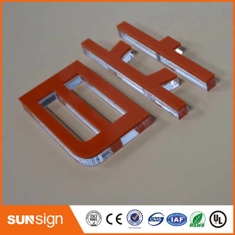 Custom 3D Letters Indoor Decorative Logo Signage Clear Acrylic Letters For Sign