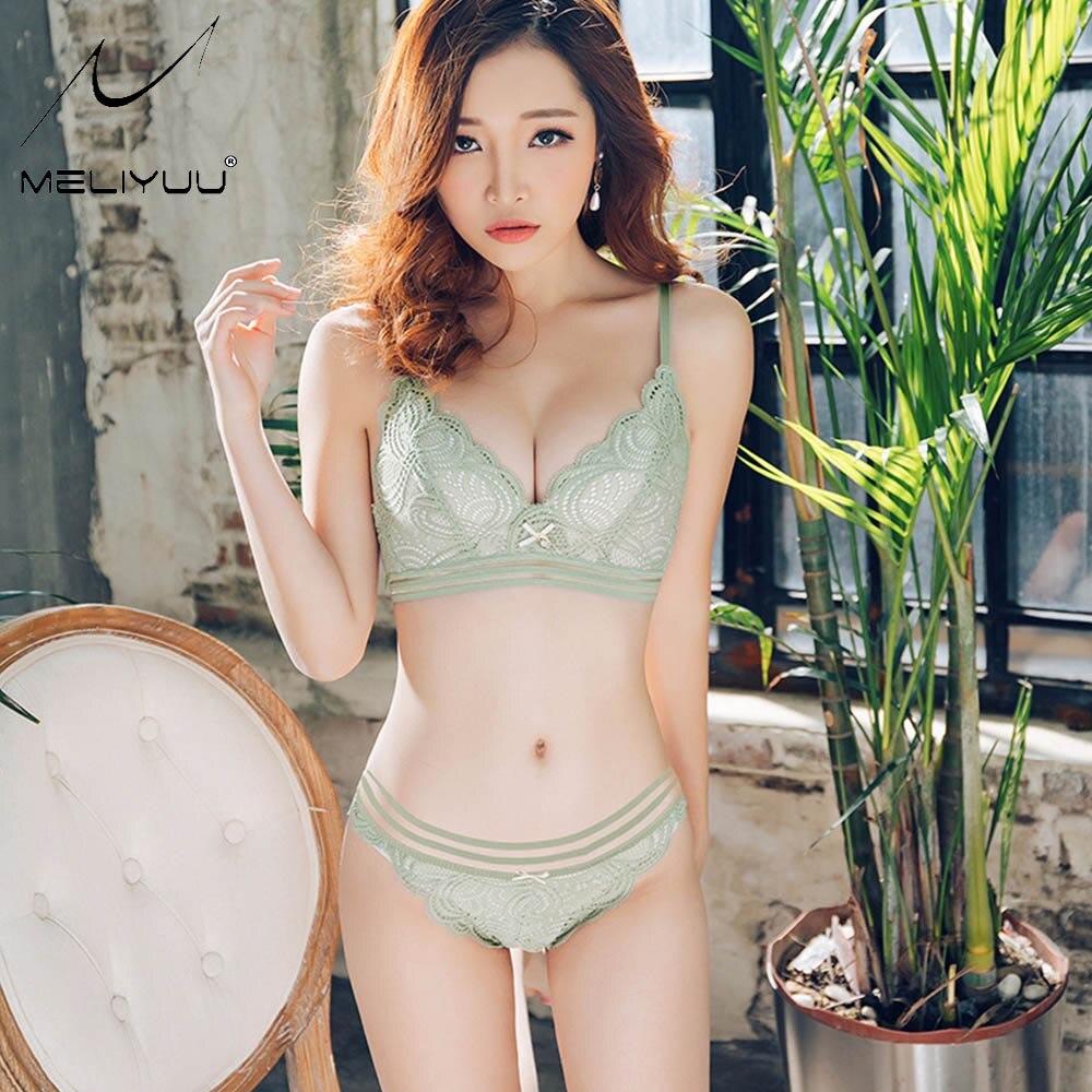 Sexy Womens Lace   Bra     Sets   Wireless Push Up Bralette Lingerie Underwear Brassiere   Bra   &   Brief     Sets   Size 30-38 A B C Cup