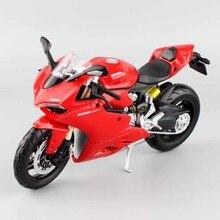 цена на 1:12 scale Maisto children 1199 Panigale R Superbike Die casting model motorbike motorcycle race Replica bike mini metal toy red