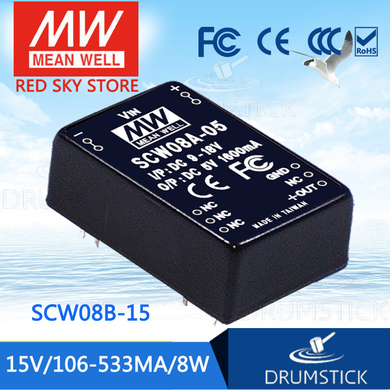 Advantages MEAN WELL original SCW08B-15 15V 533mA meanwell SCW08 15V 8W DC-DC Regulated Single Output Converter advantages mean well skm30c 15 15v 2a meanwell skm30 15v 30w dc dc regulated single output converter