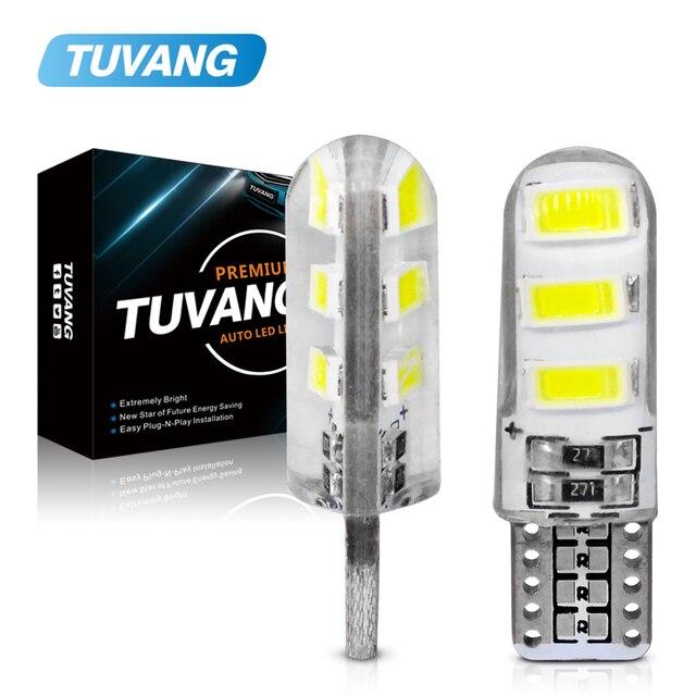 5x Mới Nhất T10 194 168 W5W 6Smd 5730 Xe Ô Tô Đèn LED Ốp Silicone Tự Động Mái Vòm Đậu Xe Đèn Xe Ô Tô Mặt Nêm Ánh Sáng bóng Đèn Ô Tô Tạo Kiểu