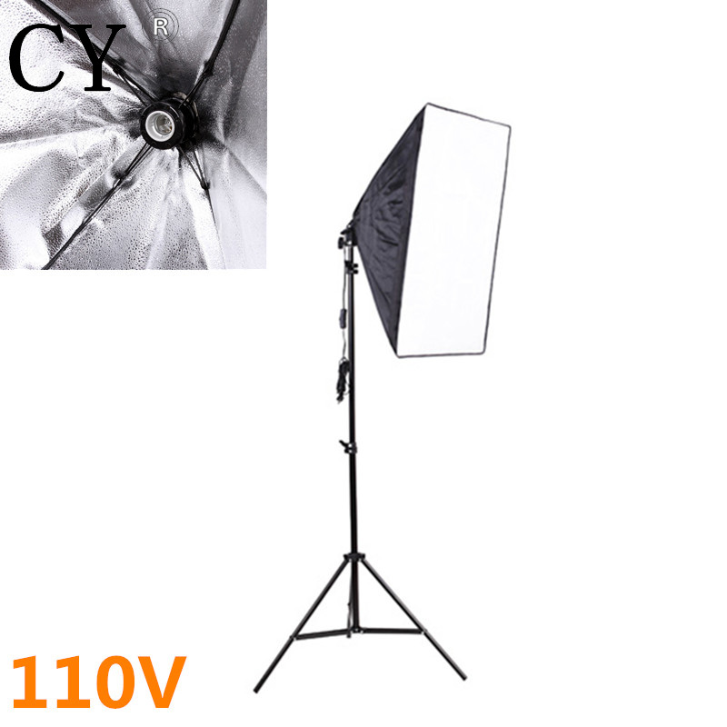 Lightupfoto Professional 110V Portable 50cm x 70cm Photo Studio softbox with Studio Photography 200cm light stand kit PSK15-US