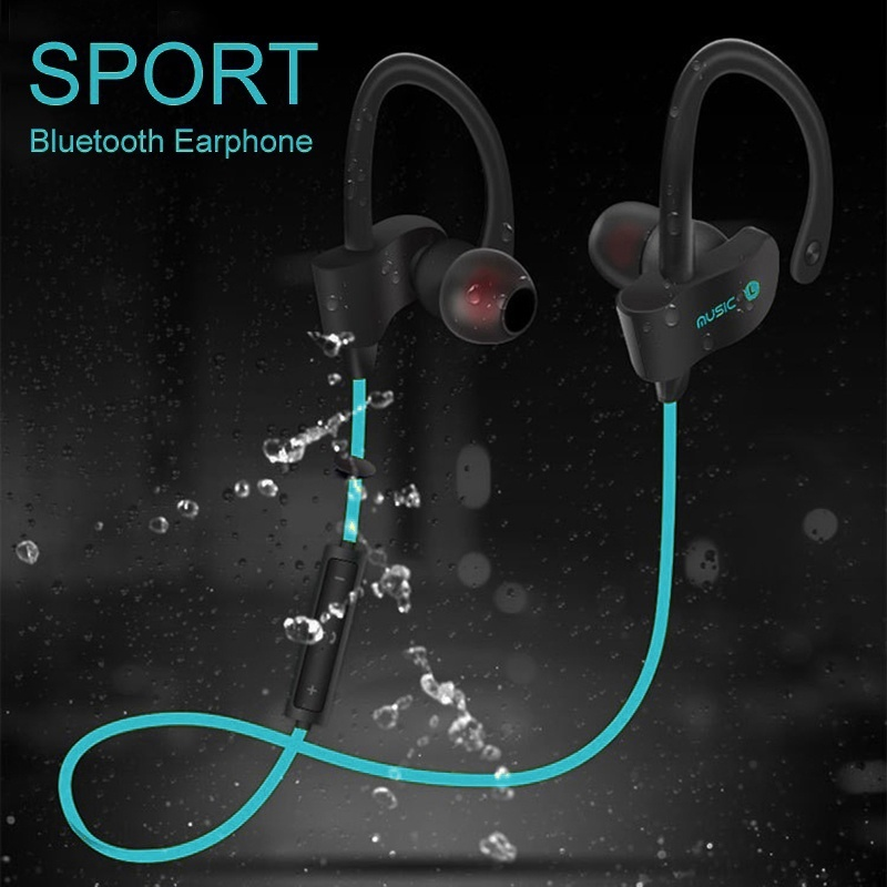 Sports Running Bluetooth Earphone Stereo Sweatproof Active Noise Cancelling Headset Wireless Music Earbuds With Microphone