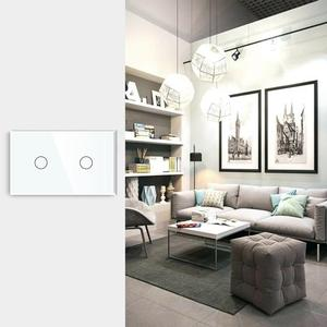 Image 5 - Bseed US Touch Switch 2 Gang 1/2 Way Light Switch Wall Switch White Crystal Class Panel White Black Golden Smart Switch