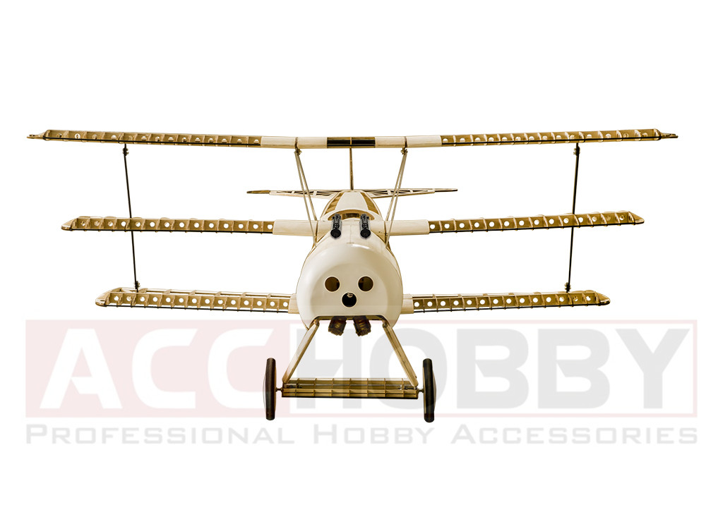 Balsawood Airplane Model Laser Cut Fokker de energía eléctrica DRI - Juguetes con control remoto - foto 4