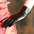 Imported Goatskin Gloves Female Genuine Leather Gloves Autumn And Winter Plus Velvet Warm Elegant Women Gloves 2319