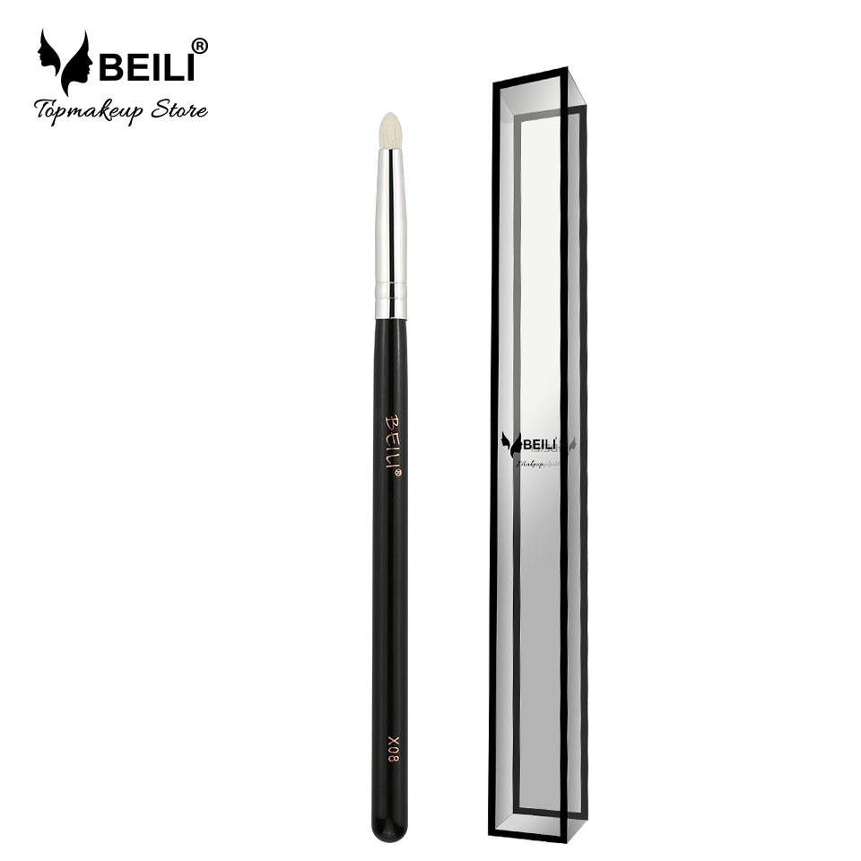 BEILI X08 Eye Pencil Small Shade Pelo Natural de Cabra Mango Negro Pincel de Maquillaje Único