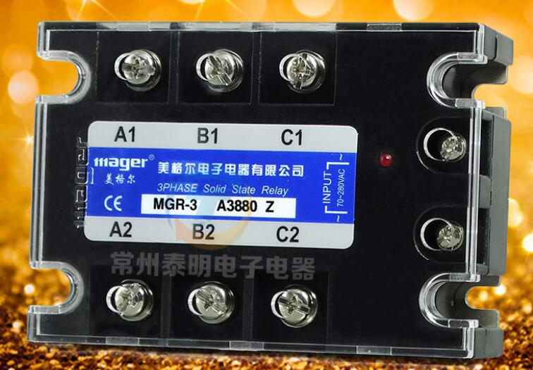 MGR-3 A3880 Z Mercury Genuine AC three-phase solid state AC relay MGR-3 A3880Z AC control AC relay genuine three phase solid state relay mgr 3 032 3880z dc ac dc control ac 80a
