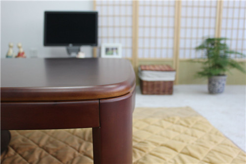 Japanese Kotatsu Table Rectangle 120cm Round Corner Walnut Color Home Furniture  Living Room Kotatsu Low Coffee Table Wooden In Coffee Tables From Furniture  ...