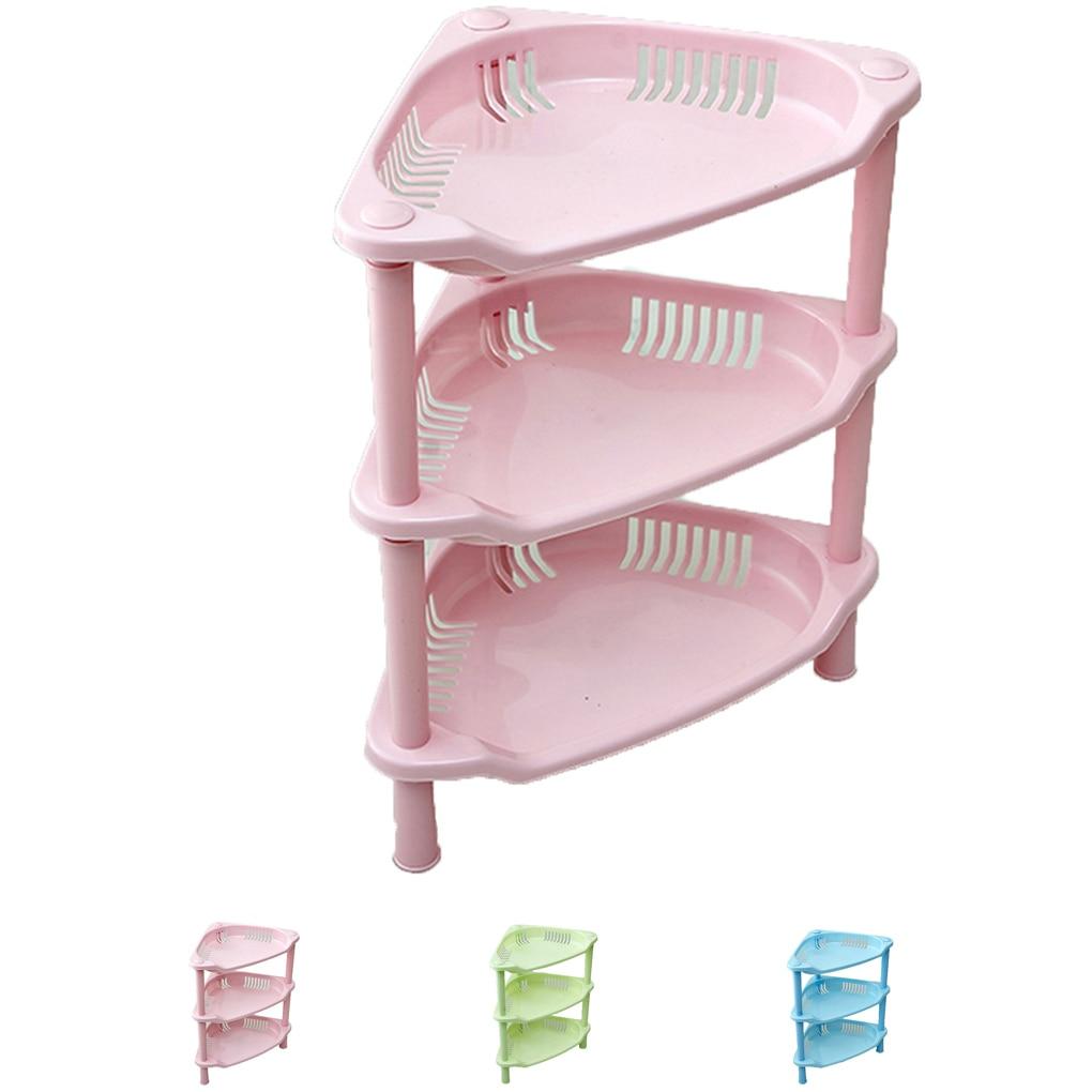 Rózsaszín zöld kék műanyag konyha fürdőszoba polc - Szervezés és tárolás