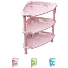 Pink green blue plastic kitchen bathroom shelf storage racks holder DIY
