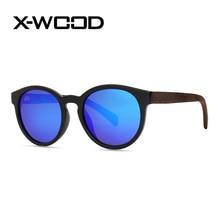 X-WOOD Moda Oval TAC Polarizado Gafas de Sol Hombres Mujeres multicolor Diseñador gafas de Sol Polarizadas Oculos Masculino Gafas De Sol