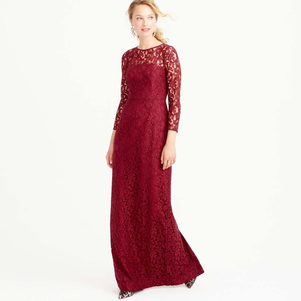 Long red lace bridesmaid dress dress ideas long red lace bridesmaid dress ombrellifo Images