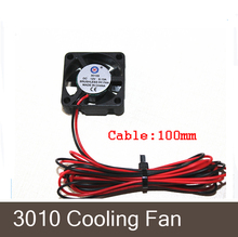 3D printer GDT 3010s 3cm 30 x 30 x 10mm 30mm Small DC 12V Brushless Cooling Cooler Fan 100mm cable