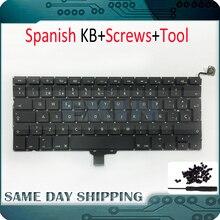 """10 قطعة/الوحدة جديد OEM ل ماك بوك برو 13 """"A1278 لوحة المفاتيح اسبانيا Sp الاسبانية لوحة المفاتيح استبدال + مسامير مجموعة 2009 2010 2011 2012 سنة"""