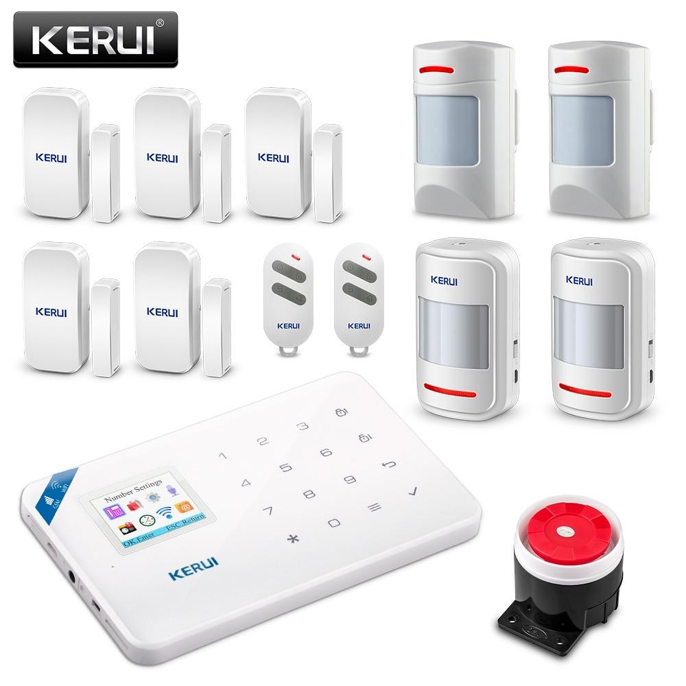 Original KERUI WI8 Pet Immune PIR Detector Smart WIFI GSM Burglar Security  Alarm System IOS/