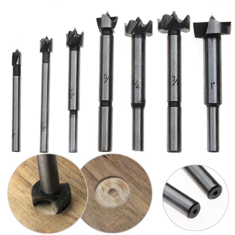 цена на 7PCS Flat Wing Electrical Hole Cutter HSS Drill Bit Kit Plate Desktop Hinge Punching Reaming Drilling Tools For Woodworking