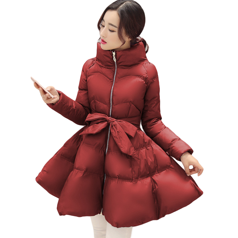 2018 New Fashion Winter Coat Women Warm Outwear Padded Cotton Jacket Coat Womens Clothing High Quality Parkas Manteau Femme D452
