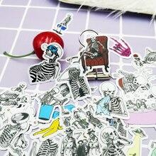 20 / 40pcs Fun Life People Skull Decoration Scrapbook Paper Stickers DIY Craft Sticker Photo Diary Decoration
