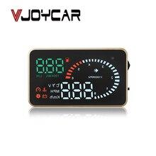 Современный автомобильный Hud автоматический дисплей OBD Автомобильный скоростной метр заглушка OBDII OBD2 датчик скорости напряжения температуры воды сигнализация для топливного бака