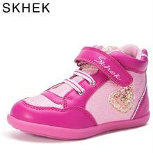 SKHEK تصميم جديد للأطفال أحذية رياضية فتاة لصبي أحذية عالية الأعلى طفلة حذاء رياضة عارضة الأزياء المدرب بو أحذية