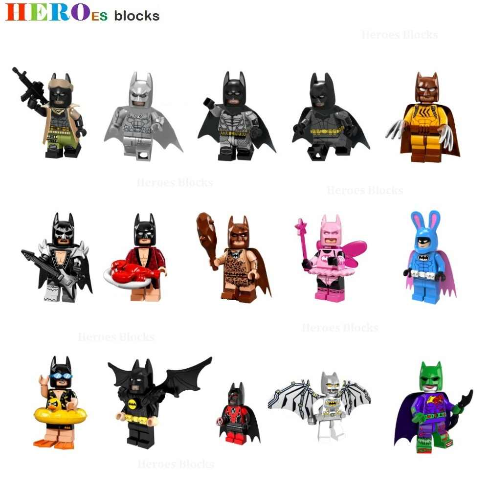 Super Heroes The Dark Knight Movie 46 styles Batman Mini Building Blocks action Figure Bricks Toys kids gifts Compatible Legoed