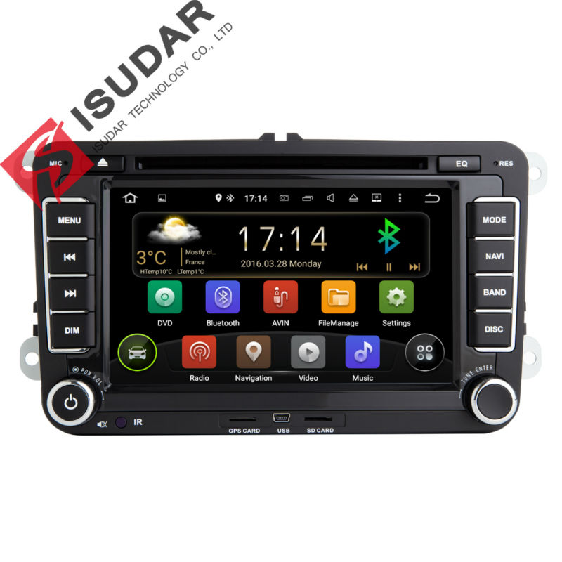 Two Din 7 Inch font b Android b font Car DVD Player For VW Volkswagen POLO