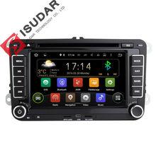 Dos Din 7 Pulgadas Android Coches Reproductor de DVD Para VW/Volkswagen/POLO/PASSAT/Golf/Skoda/rápido/Asiento Canbus Wifi GPS de Navegación de Radio FM