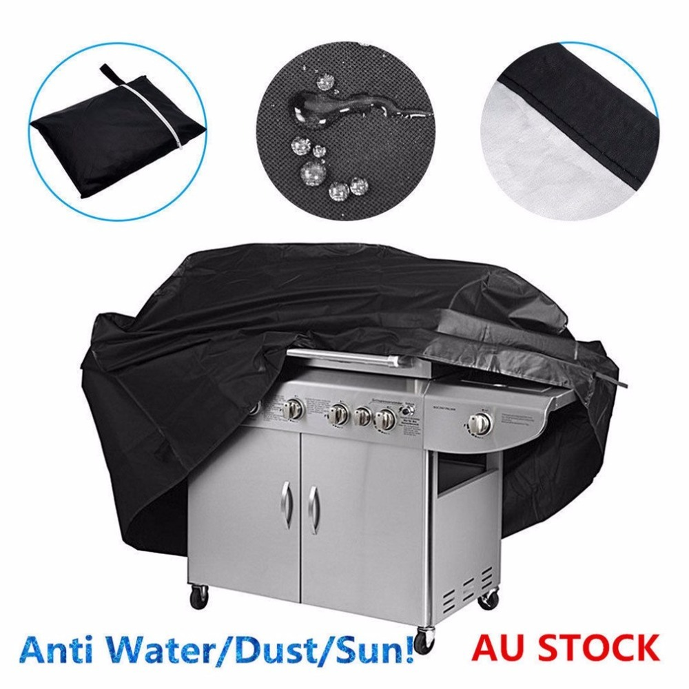 Large Size Waterproof BBQ Cover Burner Dustproof UV Protective Outdoor Gas Charcoal Barbecue Grill Protector Cover original protective leather cover uv lens cover white
