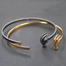 Popular symbol of titanium steel bracelet awl retro unique personality hammer shape a few bangle