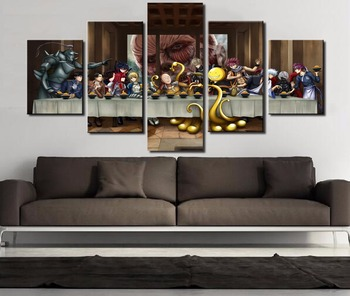 Frame 5 Pcs Large One Punch Man Modern Decorative Paintings on Canvas Wall Art for Home Decorations Wall Decor Artwork 1