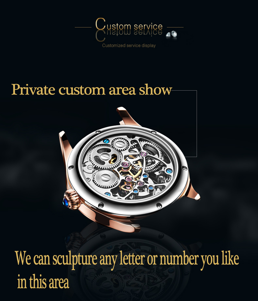 2019 Real Tourbillon Mechanical Hand Wind Sapphire Mens Watches Top Brand Luxury Rhinestone Clock men Gold Relogio Masculino 15