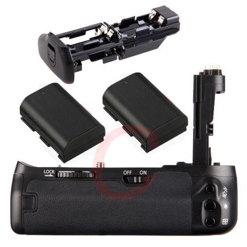 JINTU Pro Vertical Shutter Battery Grip Holder 2pcs LP E6 batteries Kit For Canon EOS 6D