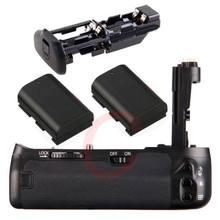 JINTU Pro 6D Obturador Vertical Battery Titular Aperto + 6D 2pcs LP-E6 Kit baterias Para Canon EOS DSLR Camera como BG-E3 BGE3