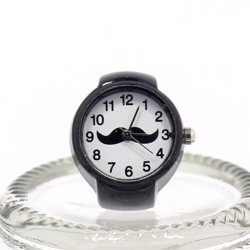 Finger-Ring Watch Creative Relogio Cool Dial Steel Quartz Feminino Elastic Hot-Sale