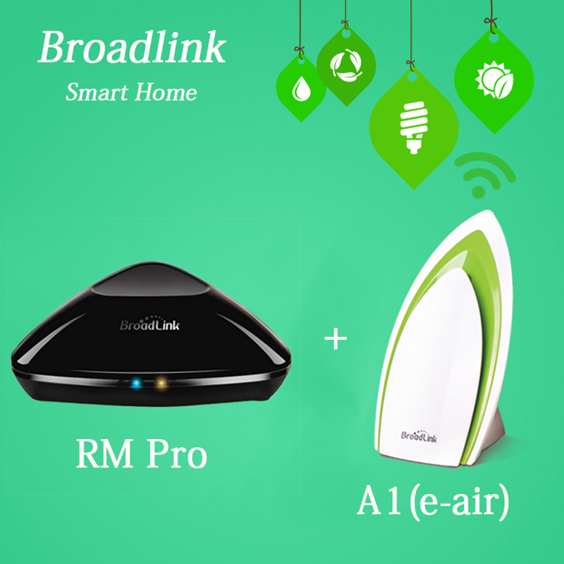 Broadlink RM2 RM PRO Universal Remote Contol IR RF + A1 Air Quality Detector Sensor Smart Home Automation System IOS Android free shipping 2017 broadlink rm pro rm03 smart home automation wifi ir rf universal intelligent remote control switch for